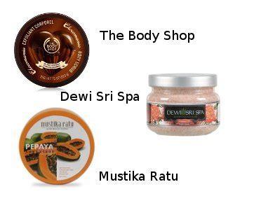 Scrub Dewi Sri 3 pilihan scrub untuk kulit halus lembut