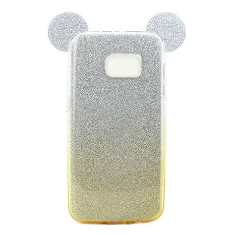 Glitter Galaxy S7 Gold wholesale galaxy s7 minnie bow glitter necklace chagne gold