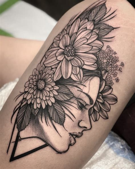 black and grey flower tattoo designs david mushaney david mushaney custom tattoos dallas