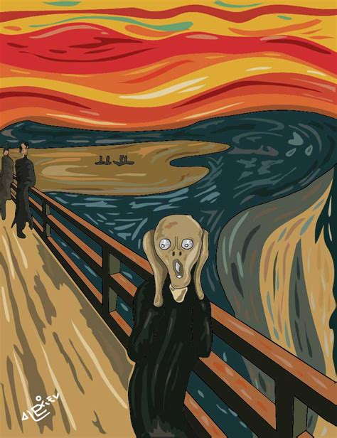 el grito de la ilustrador alexiev gandman el grito de munch por alexiev