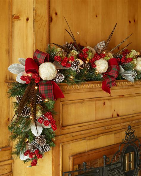 pre lit highland fling 6 christmas garland wreaths and