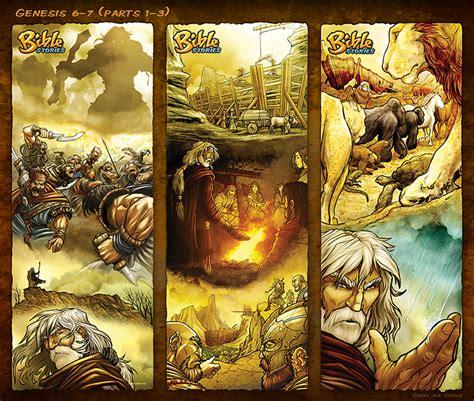 bible stories in genesis bible stories comic strips genesis 6 7 noah p1 3 by