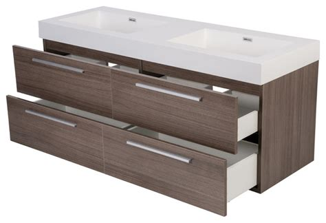 54 bathroom vanity double sink 54 quot aln 246 ite modern wall hung double sink bathroom vanity