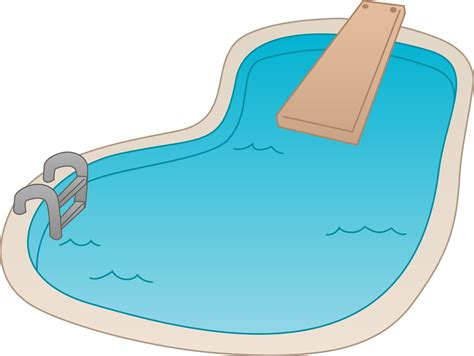 Clipart Pool swimming pool with diving board free clip