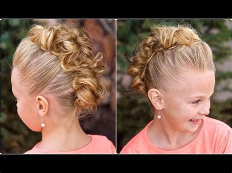 cute girl hairstyles buns youtube messy bun hawk dance hairstyles youtube
