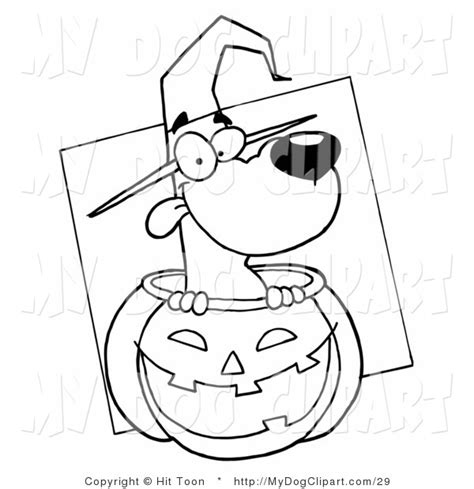 halloween puppies coloring pages clip art of a coloring page of a halloween witch dog in