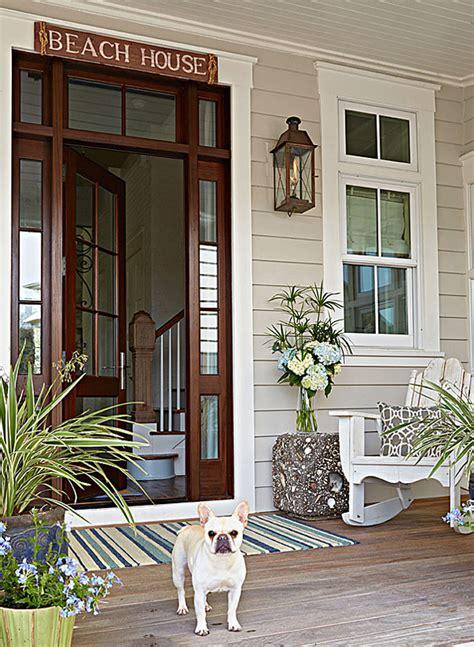 beach house front door