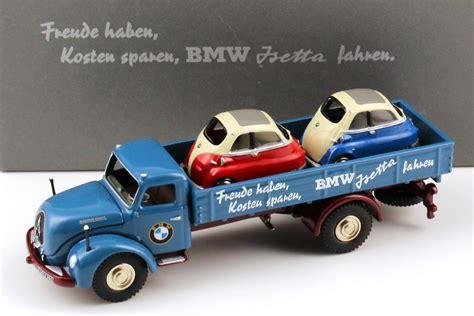 1:87 Magirus S6500 beladen mit 2x BMW Isetta (feuer rot