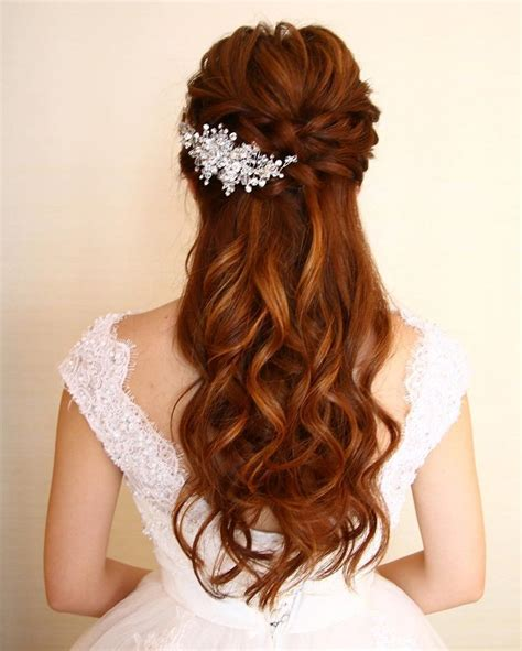 Half Up Wedding Hairstyles by Wedding Hairstyles For Hair Half Up Www Pixshark