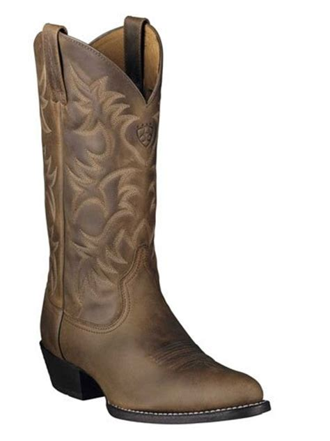 cheap mens western boots s ariat heritage western r toe boots brown 14 ee cheap