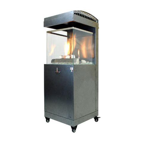 Shop 41 000 Btu Carbon Gray Steel Liquid Propane Patio Propane Patio Heater Lowes