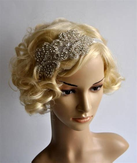 diy 1920s flapper hairstyles sale rhinestone flapper gatsby headband wedding headband
