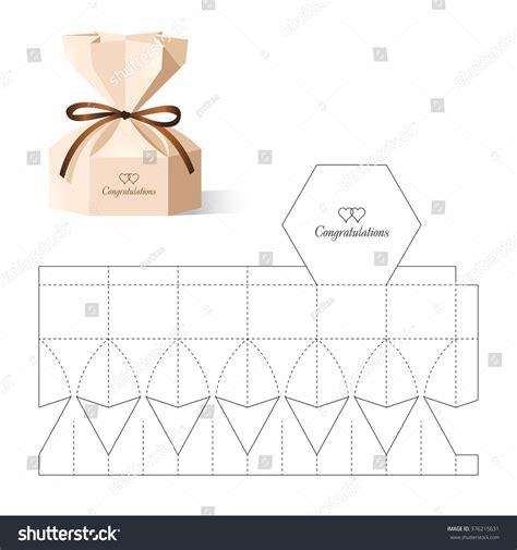 Pillow Storage retail box blueprint template stock vector 376215631