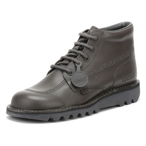 Kickers Boots Leather Premium kickers kick hi boots leather shoes s lace up 6 5 7 8