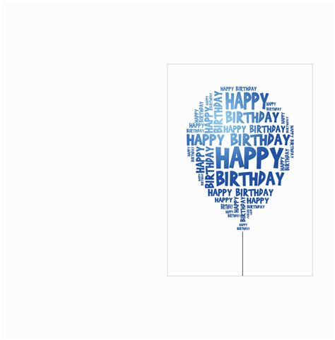 Happy Birthday Card Template by Happy Birthday Card Template Gallery Best