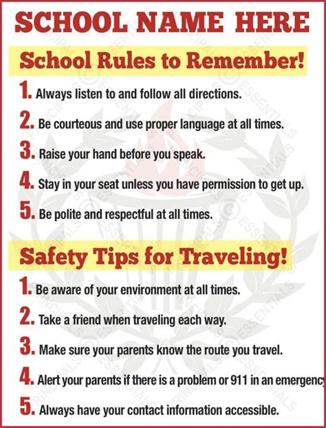 10 Safety Tips To Follow In Your Home by Traveling Safety Tips Poster