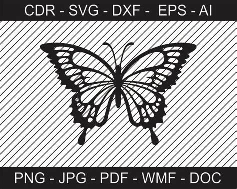 butterfly design svg ai dxf cdr pat jpeg png