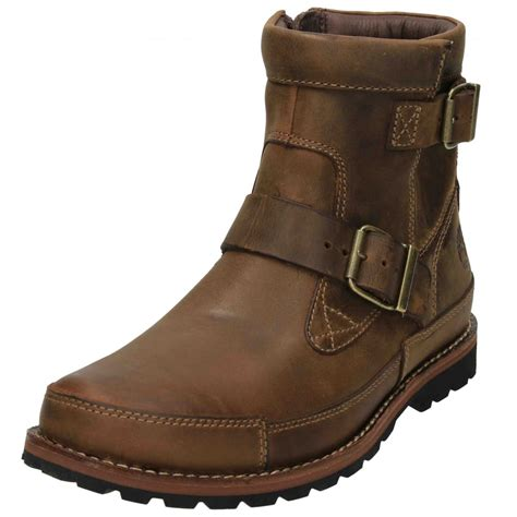 mens casual biker boots timberland earthkeepers mens biker military ankle boots