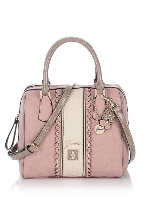 Tas Guess Miss Social Small guess miss social box satchel bag in pink lyst