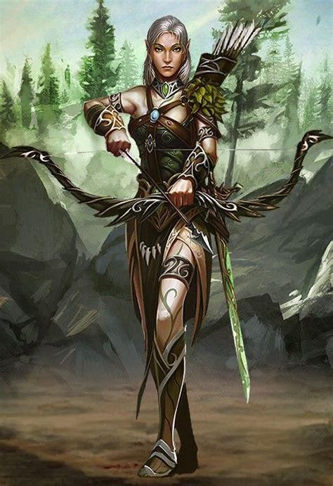 Exaggerated Elves rpg ranger digital archery rpg warriors and ranger