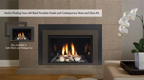 modern gas insert fireplace contemporary rcs fireplace