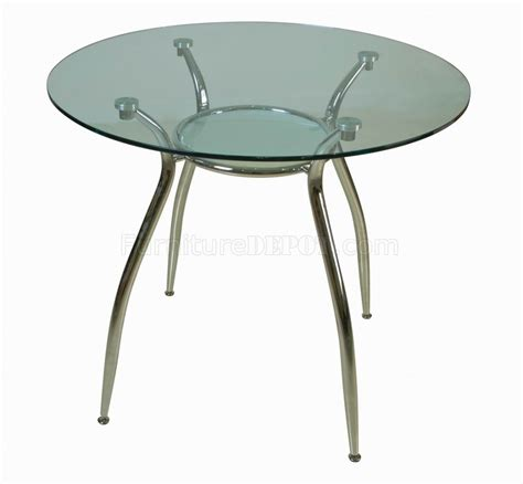 glass top metal legs modern dining table