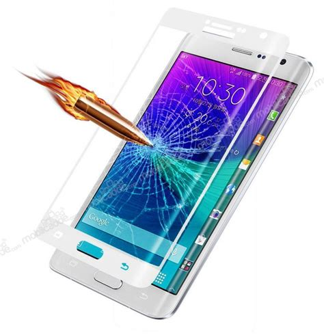 Tempered Glass Note Edge dafoni samsung galaxy note edge curve tempered glass premium beyaz ekran koruyucu
