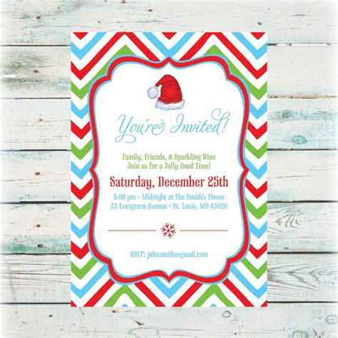 items similar to printable chevron christmas party