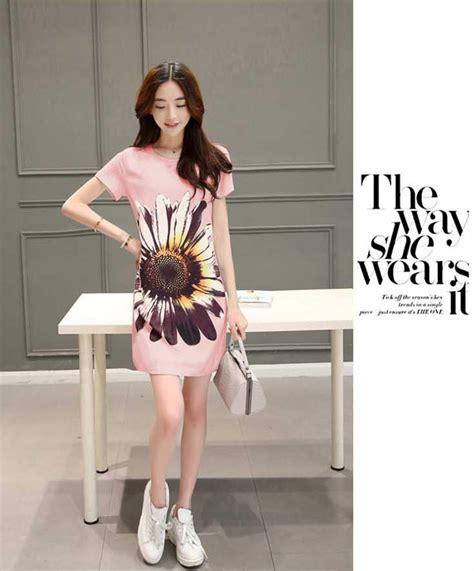 421 Dress Korean Import dress korea import lengan pendek motif bunga a3365