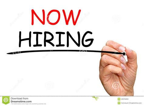Free Is Hiring by Now Hiring Stock Image Image Of Background Vacancy