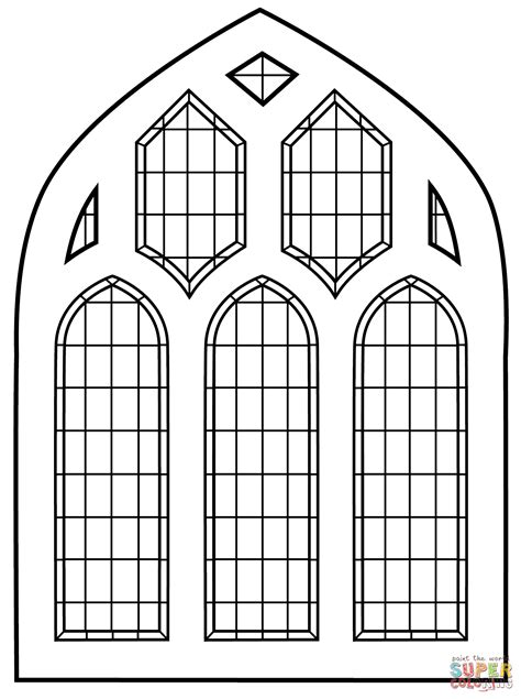 coloring page for window church window coloring pages coloring home