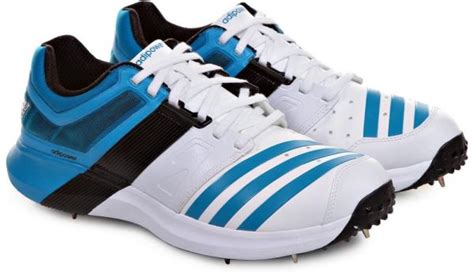adidas adipower vector spike cricket shoes for 7 uk white blue souq uae