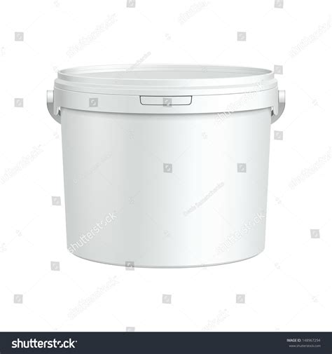 paint plastic bathtub white tub paint plastic bucket container stock vector