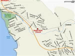 cambria california map santa rosa parish website