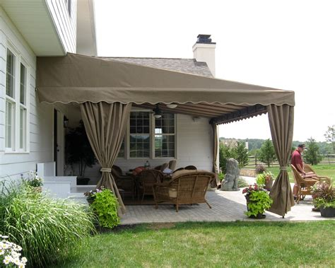 canvas awnings for decks residential deck or patio awning kreider s canvas
