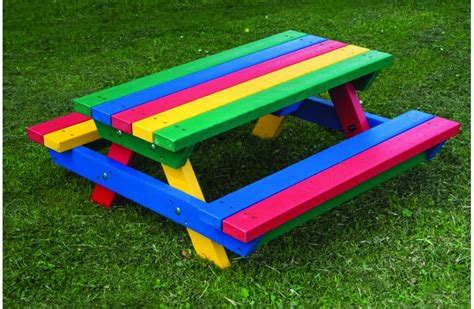 recycled plastic picnic bench teeny tot recycled plastic picnic bench