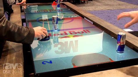 diy air hockey table dse 2015 multitaction demos digital air hockey table