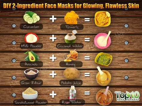 the best diy mask diy 2 ingredient masks for glowing flawless skin