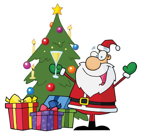 cartoon christmas tree clipart best