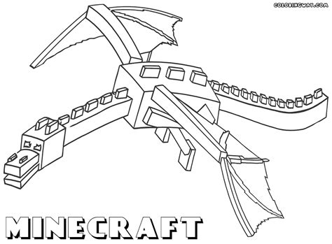 coloring pages of ender dragon coloring pages minecraft coloring home