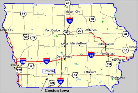 Creston Iowa   Iowa Map