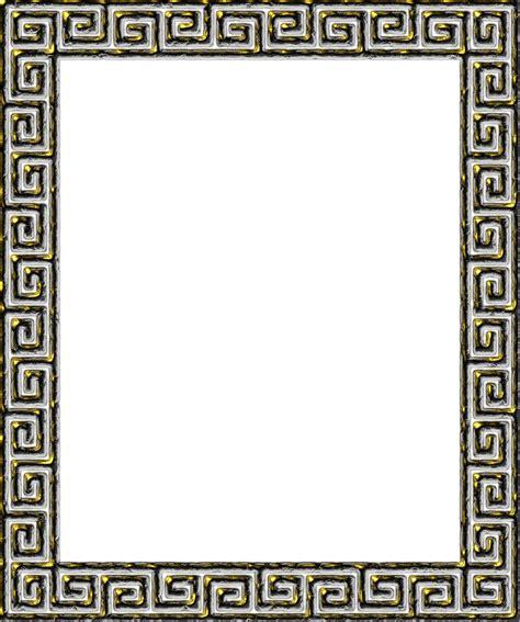 Greek Pattern Frame | clipart greek key frame 3