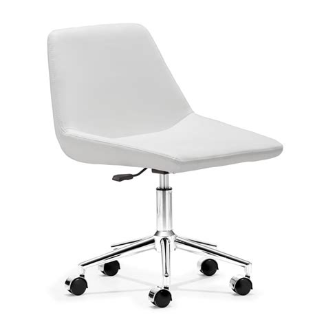 dreamfurniture zen office chair white