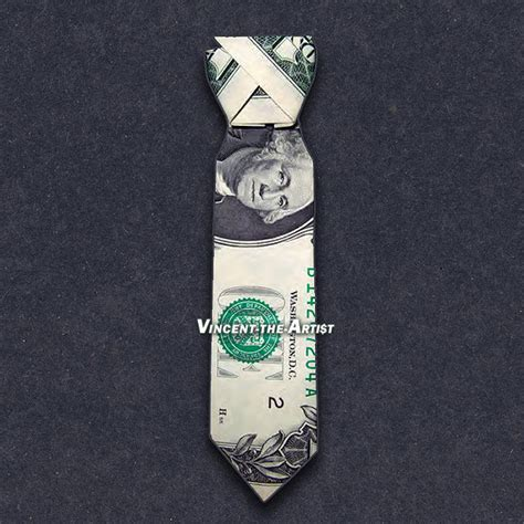 Dollar Bill Origami Shirt With Tie - dress shirt tie money origami dollar vincent the artist