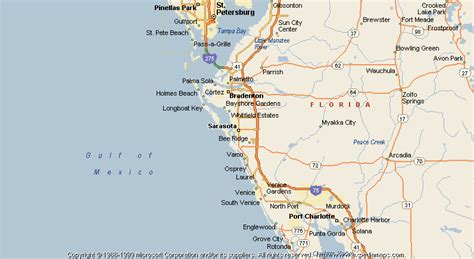 sarasota map map of sarasota