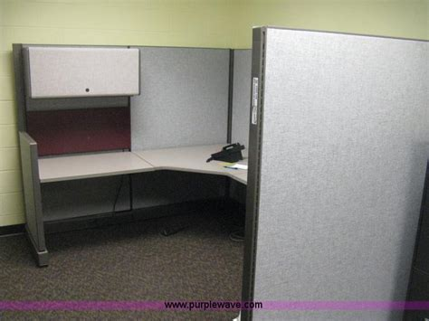cubicle overhead storage cabinet 2 module office cubicles no reserve auction on tuesday