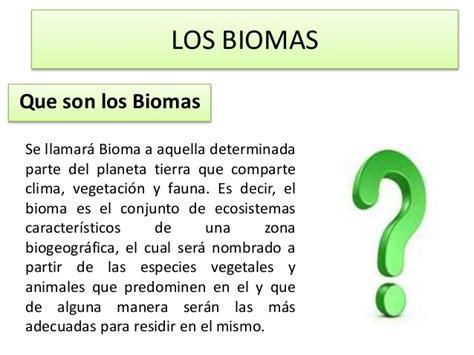 libro que son los biomas biomas