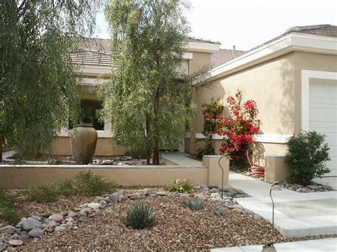 desert landscape front yard rocks manitoba design