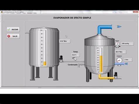 design of single effect evaporator single effect evaporator scada labview youtube