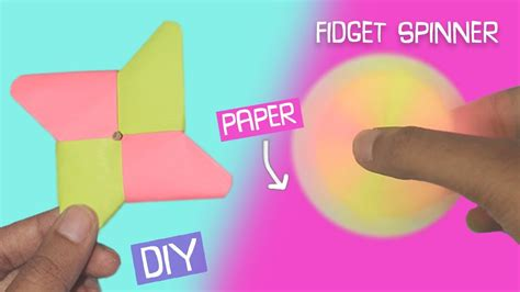 How To Make Paper Paste At Home - diy fidget spinner using only paper easy craft
